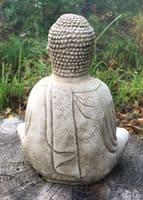 Little Buddha  stone home or garden ornament  20cm/8